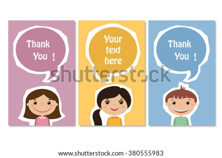 frames for text with the children - stock vector