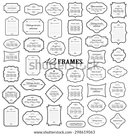 Frames mega set isolated on white. - stock vector