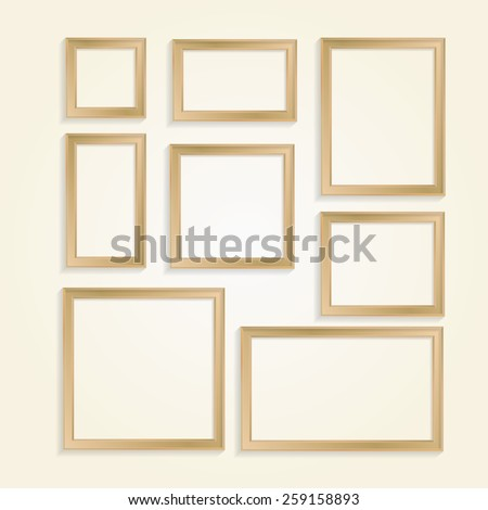 Frames vector set. - stock vector