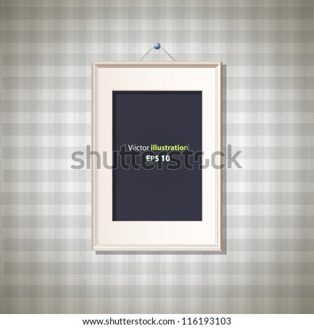 Framework on abstract texture background. Vector deign. - stock vector