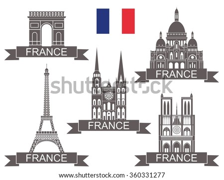 France - stock vector