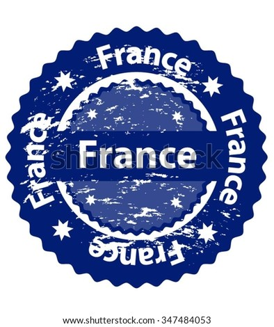 France Country Grunge Stamp - stock vector
