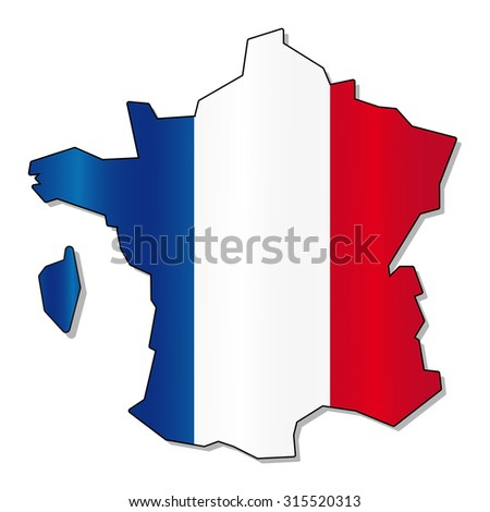 France flag - stock vector