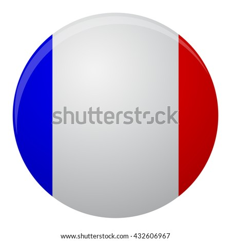 France flag icon flat. Country of flag symbol and national icon france, vector illustration - stock vector