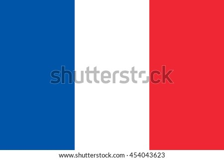 France flag, official colors and proportion correctly. National France flag. France flag vector. France flag correct. France flag drawing. France flag JPG. France flag JPEG. France flag EPS. - stock vector