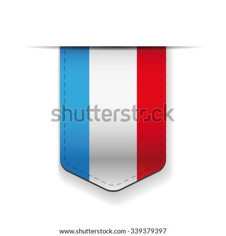 France flag ribbon vector - stock vector