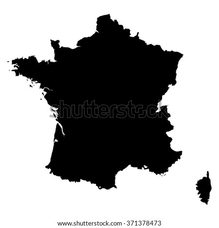 France map on white background vector - stock vector