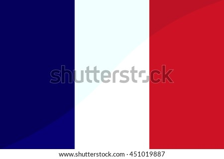 France official flag, stylish vector illustration - stock vector