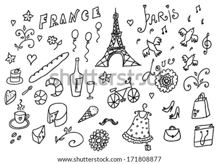 France set - stock vector