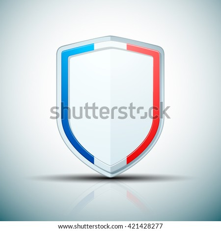 France Shield sign - stock vector