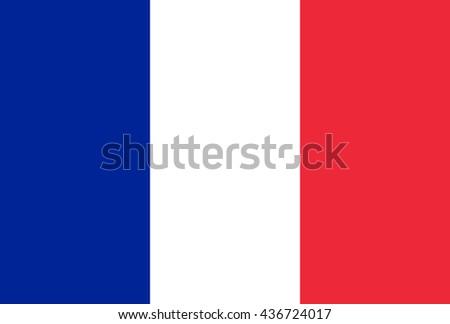 France Vector Flag - stock vector