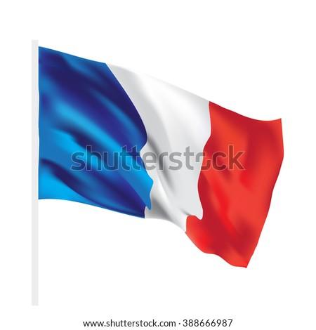 france vector flag isolated texture - stock vector