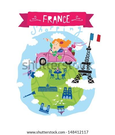 France vector icon - stock vector