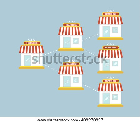Franchise business chart - stock vector