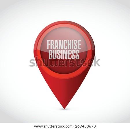 franchise business pointer sign illustration design over white - stock vector