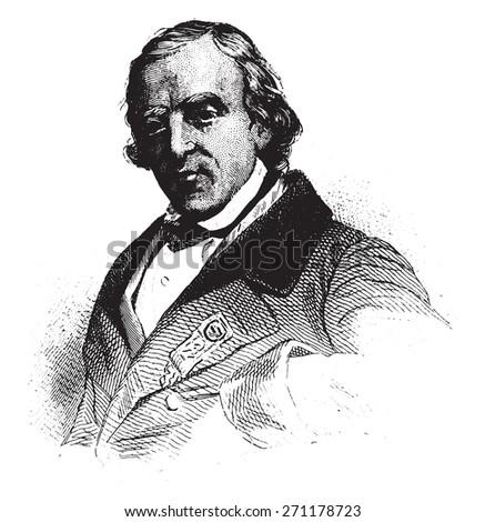 Francois-Vincent Raspail, Representative to the constituent, vintage engraved illustration.  - stock vector