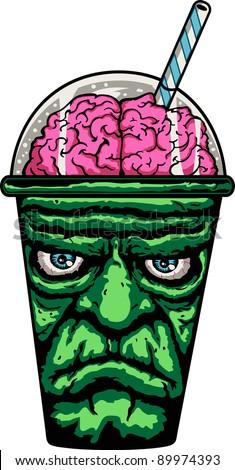 Frankenstein Monster Cup - stock vector