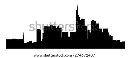 Frankfurt, Germany ( Frankfurt Am Main, Deutschland ) - stock vector
