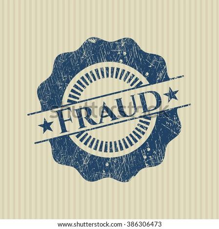 Fraud grunge stamp - stock vector