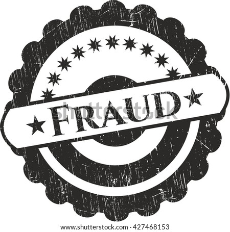 Fraud rubber grunge stamp - stock vector