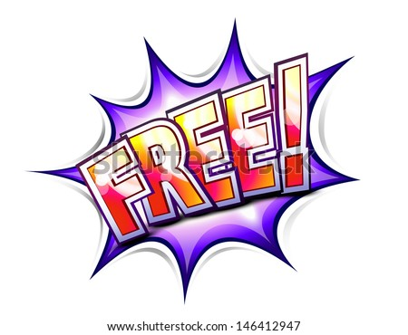 Free comic book style illustration - stock vector