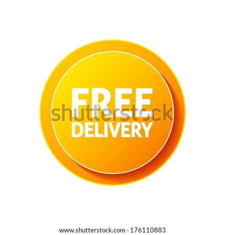 Free delivery circular icon on white background - stock vector