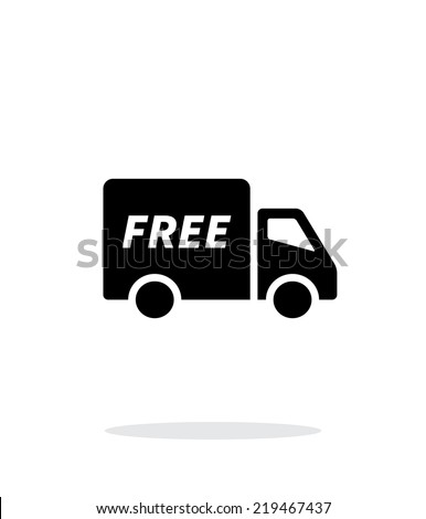 Free delivery icon on white background. Vector illustration. - stock vector