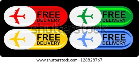 Free Delivery, icon vector - stock vector