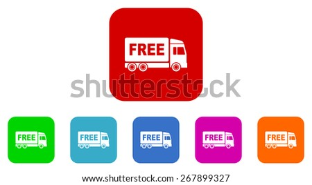 free delivery vector icon set - stock vector