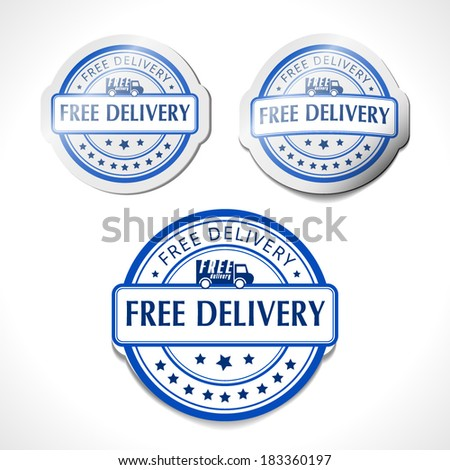 Free delivery vector label sign - stock vector