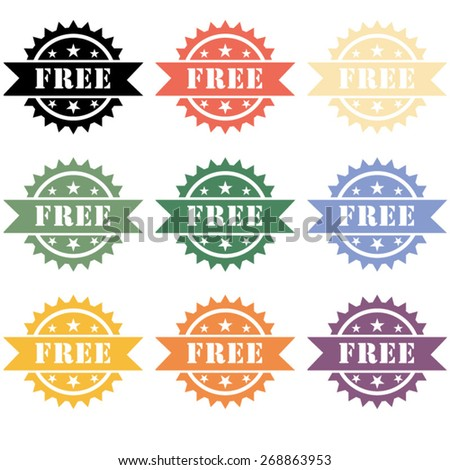 Free / Free Label / Free Badge - stock vector
