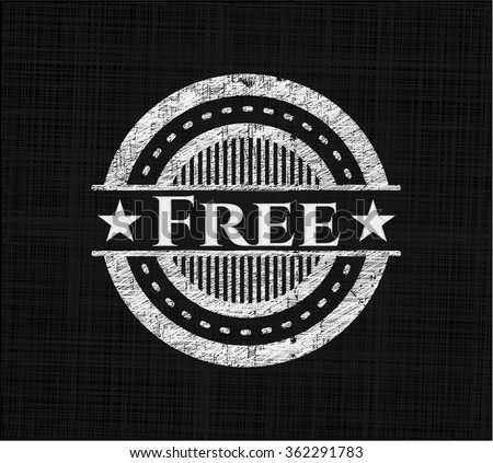 Free on chalkboard - stock vector
