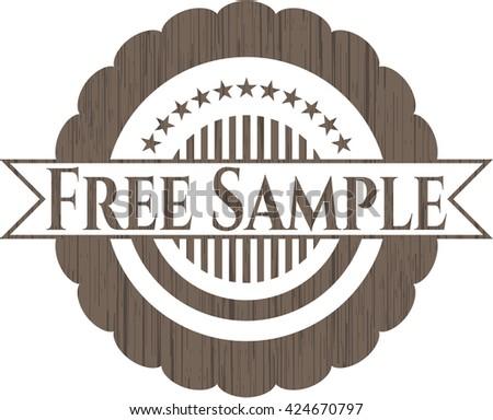 Free Sample vintage wooden emblem - stock vector