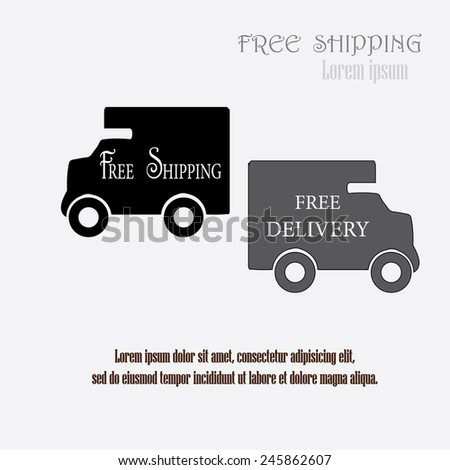 free  shipping concept,illustration of icons shipments and free delivery, vector illustration - stock vector