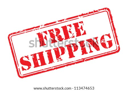 Free shipping rubber stamp vector illustration. Contains original brushes - stock vector