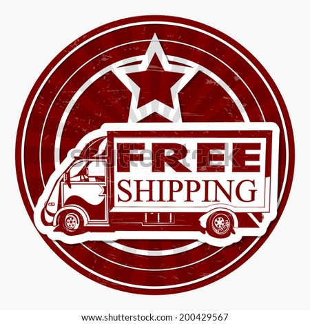 Free shipping  stamp,label. - stock vector
