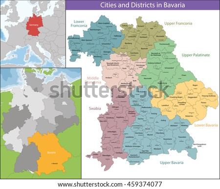 Free State of Bavaria - stock vector