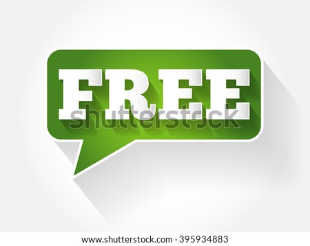 Free text message bubble, flat background concept - stock vector