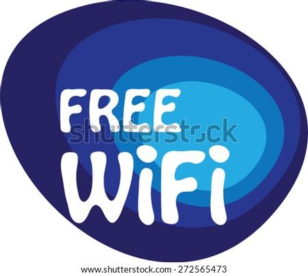 Free wifi Abstract vector - stock vector