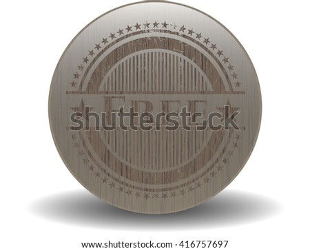 Free wood icon or emblem - stock vector