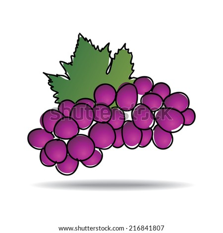 Freehand drawing grape icon - vector eps 10 illustration - stock vector