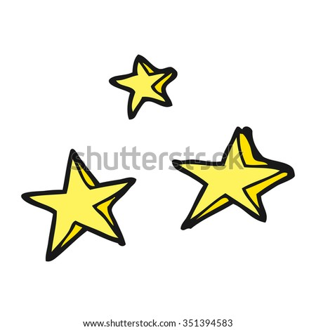 freehand drawn cartoon decorative stars doodle - stock vector