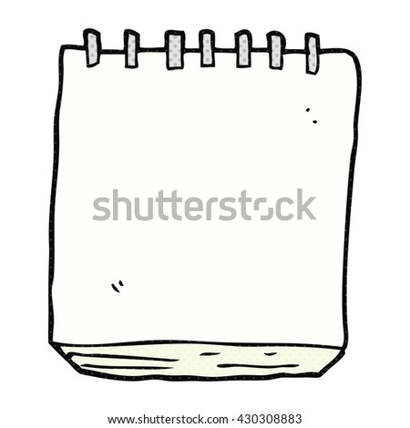 freehand drawn cartoon note pad - stock vector