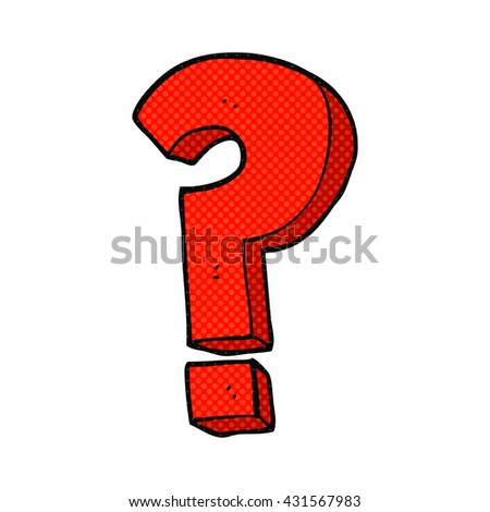 freehand drawn cartoon question mark symbol - stock vector