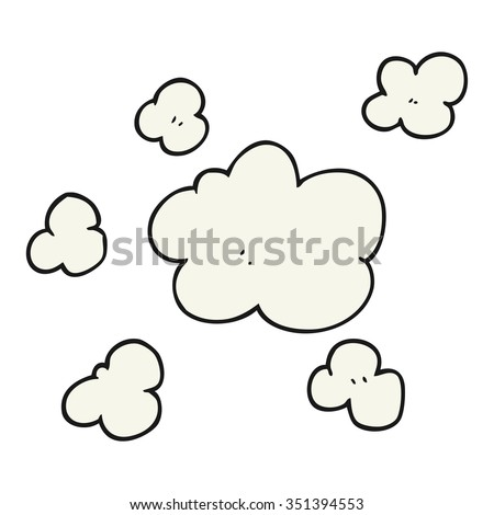 freehand drawn cartoon steam clouds - stock vector