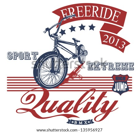 Freeride bike - stock vector