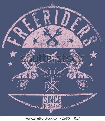 Freeriders - stock vector