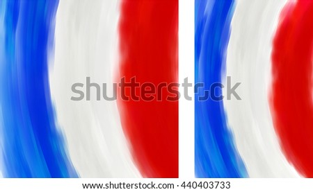 French flag made of colorful splashes - stock vector
