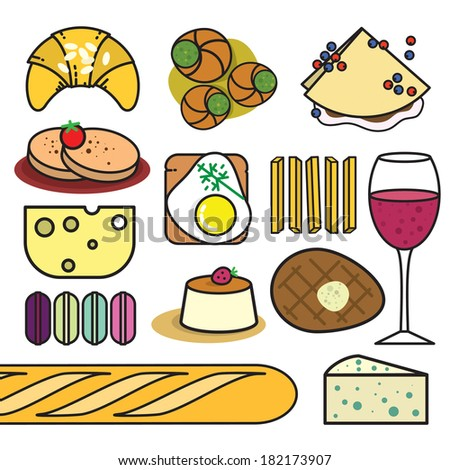 French food - stock vector