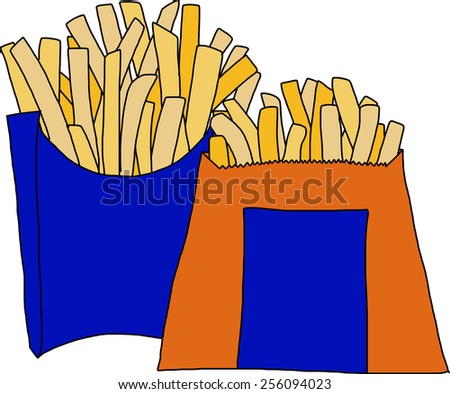 French fries - stock vector